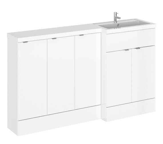 Alternate image of Hudson Reed Fusion 1500mm Full Depth Furniture Pack - Vanity With 3 Base Unit And Basin