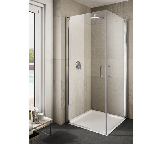 Lakes Italia Ritiro Semi-Frameless Pivot Door Corner Entry Enclosure 700 x 700mm