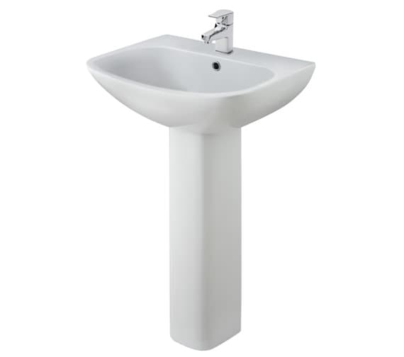 Nuie Ava 1 Tap Hole 545mm Basin With Full Pedestal