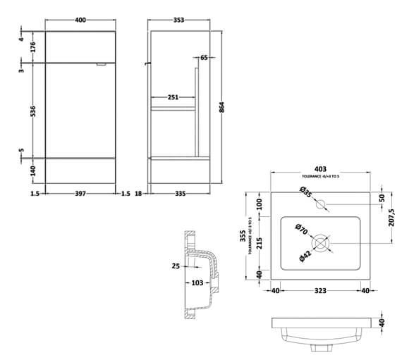 Technical drawing QS-V90104 / CBI123