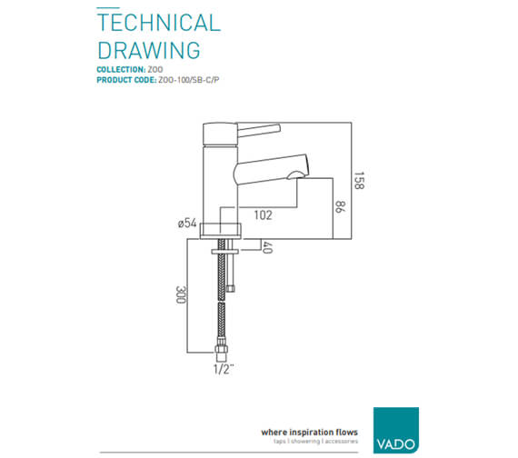 Technical drawing QS-V37169 / ZOO-100F/SB-C/P