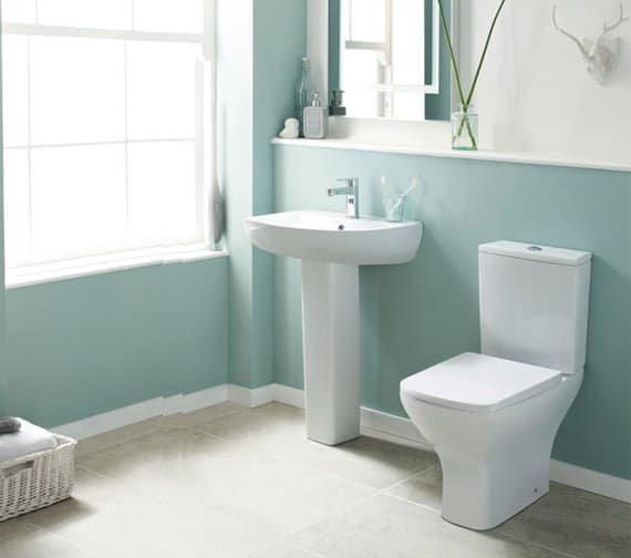 Premier Ava 610mm Closed Coupled Rimless Pan With Cistern And Soft Close Seat