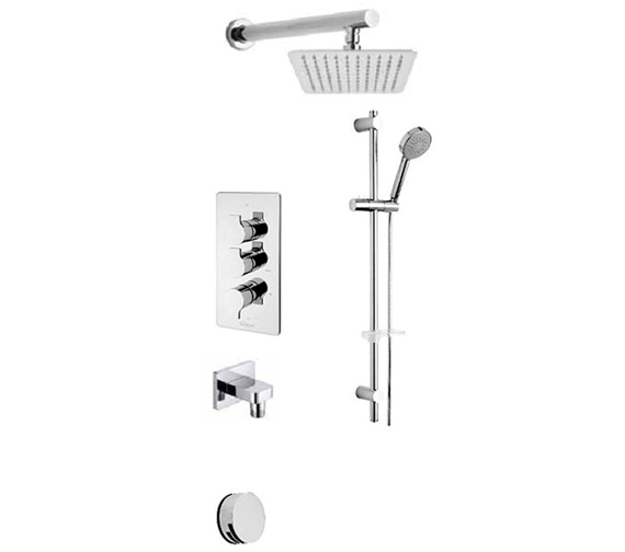 Tre Mercati Angle Concealed 3 Way Diverter Valve And Shower Set