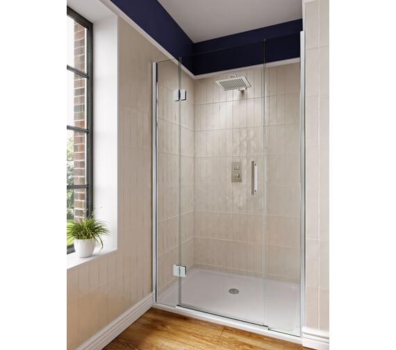 Aqata Design DS470 Left-Hand 1000mm Hinged Door And Inline Panels For Recess