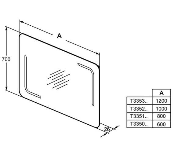 Technical drawing QS-V101058 / T3350BH