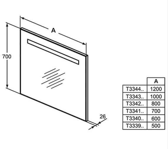 Technical drawing QS-V101079 / T3339BH