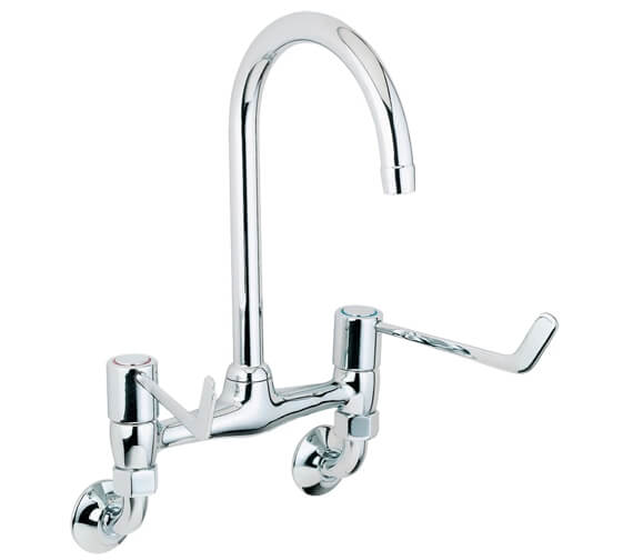 Deva Lever Action Wall Mounted Bridge Sink Mixer Tap