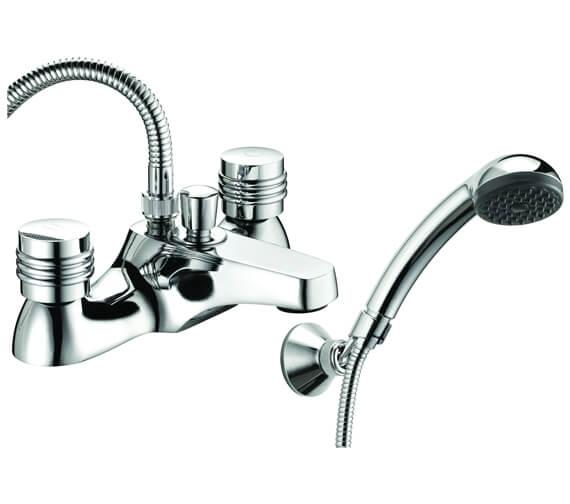Deva Solerno Deck Mounted Bath Shower Mixer Tap With Kit