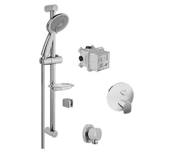 VitrA 1 Way X-Line Shower Set With Samba Handshower