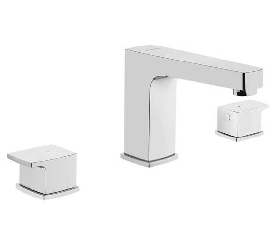 VitrA Q-Line 3 Hole Deck Mounted Basin Mixer Tap