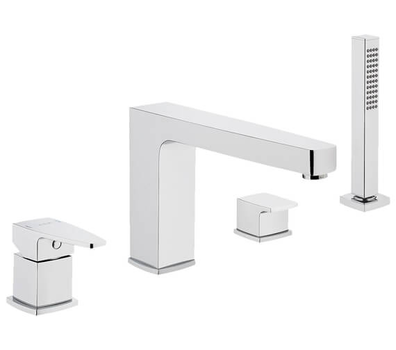 VitrA Q-Line Deck Mounted 4 Hole Bath Shower Mixer Tap