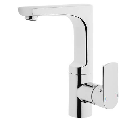 VitrA Sento Swivel Spout Basin Mixer Tap With Side Handle