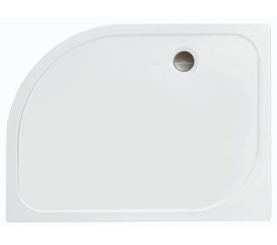 Merlyn Ionic Mstone Offset Quadrant 50mm Shower Tray With Waste