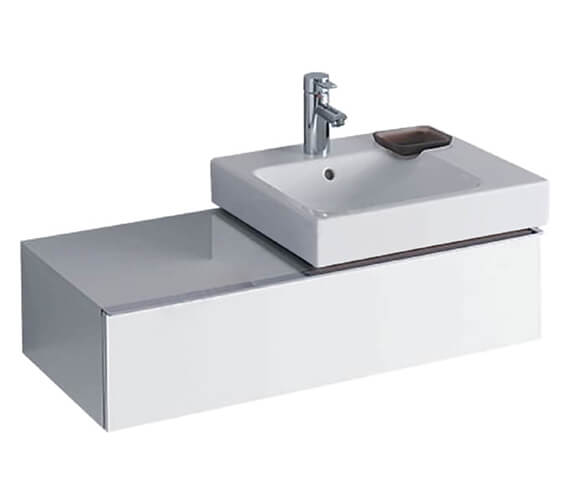 Geberit Icon 890 x 477mm Single Drawer Vanity Unit And Basin