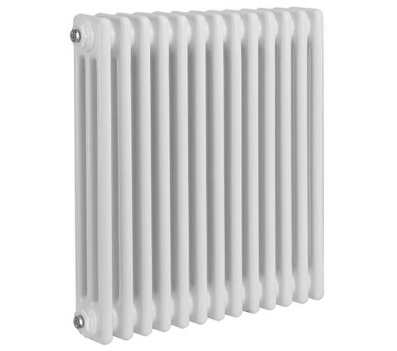 Alternate image of Reina Colona 300mm High Horizontal 4 Column White Radiator