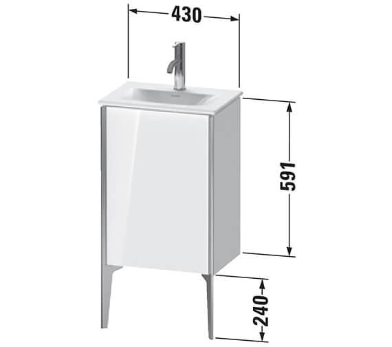 Technical drawing QS-V96302 / XV4068LB118