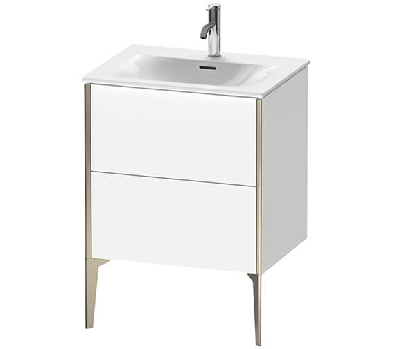 Duravit XViu 600mm High Floor Standing Vanity Unit With 2 Pull-out Compartment