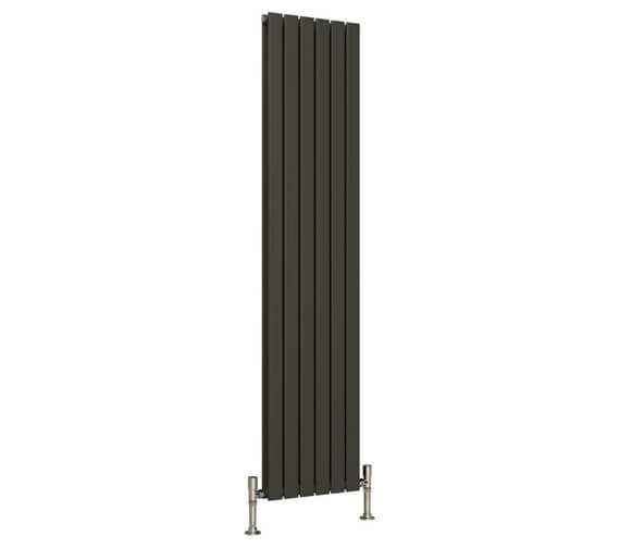 Additional image of Reina Flat 1600mm High Double Panel Vertical Designer Radiator White Or Anthracite 218mm Wide