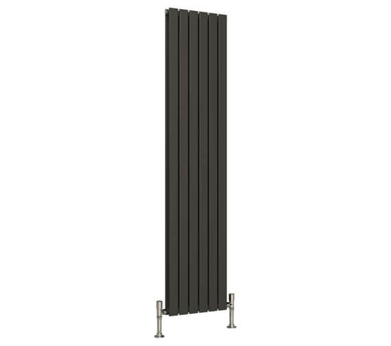 Additional image of Reina Flat 1800mm High Single Panel Vertical Steel Designer Radiator White Or Anthracite