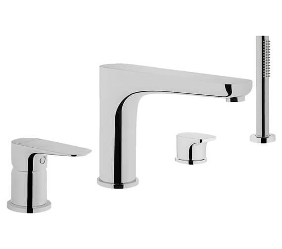 VitrA X-Line Deck Mounted 4 Hole Bath Shower Mixer Tap