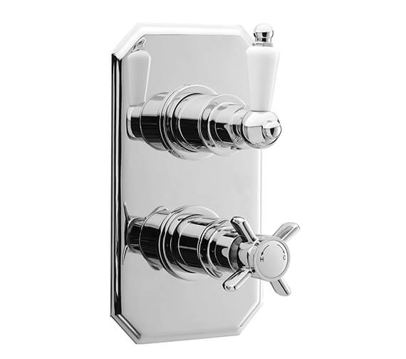 Premier Beaumont Twin Concealed Traditional Thermostatic Shower Valve