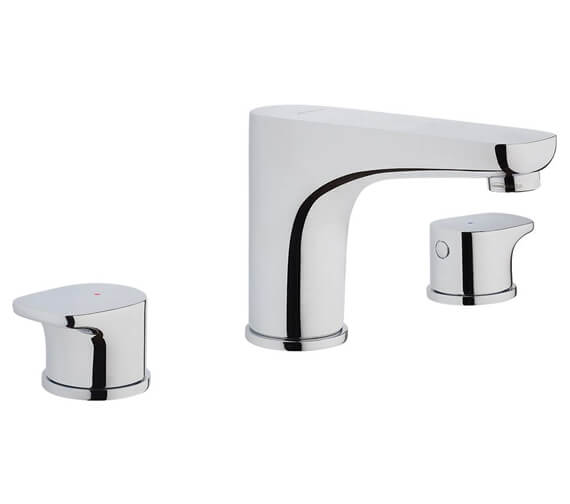 VitrA X-Line 3 Hole Deck Mounted Basin Mixer Tap