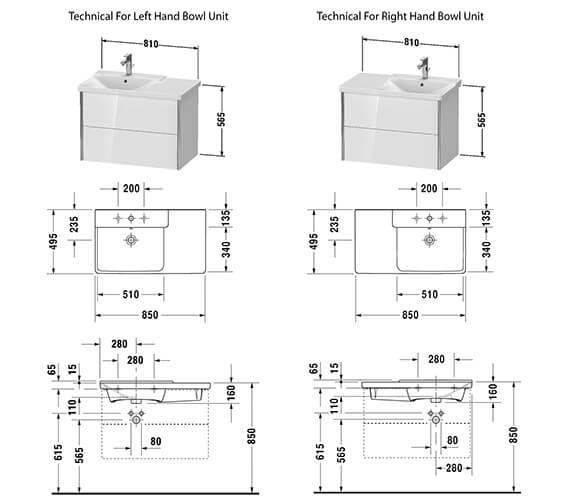 Technical drawing QS-V42553 / XV41070B118