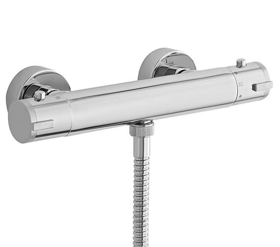 Nuie Minimalist 268mm Thermostatic Bar Shower Valve With Bottom Outlet