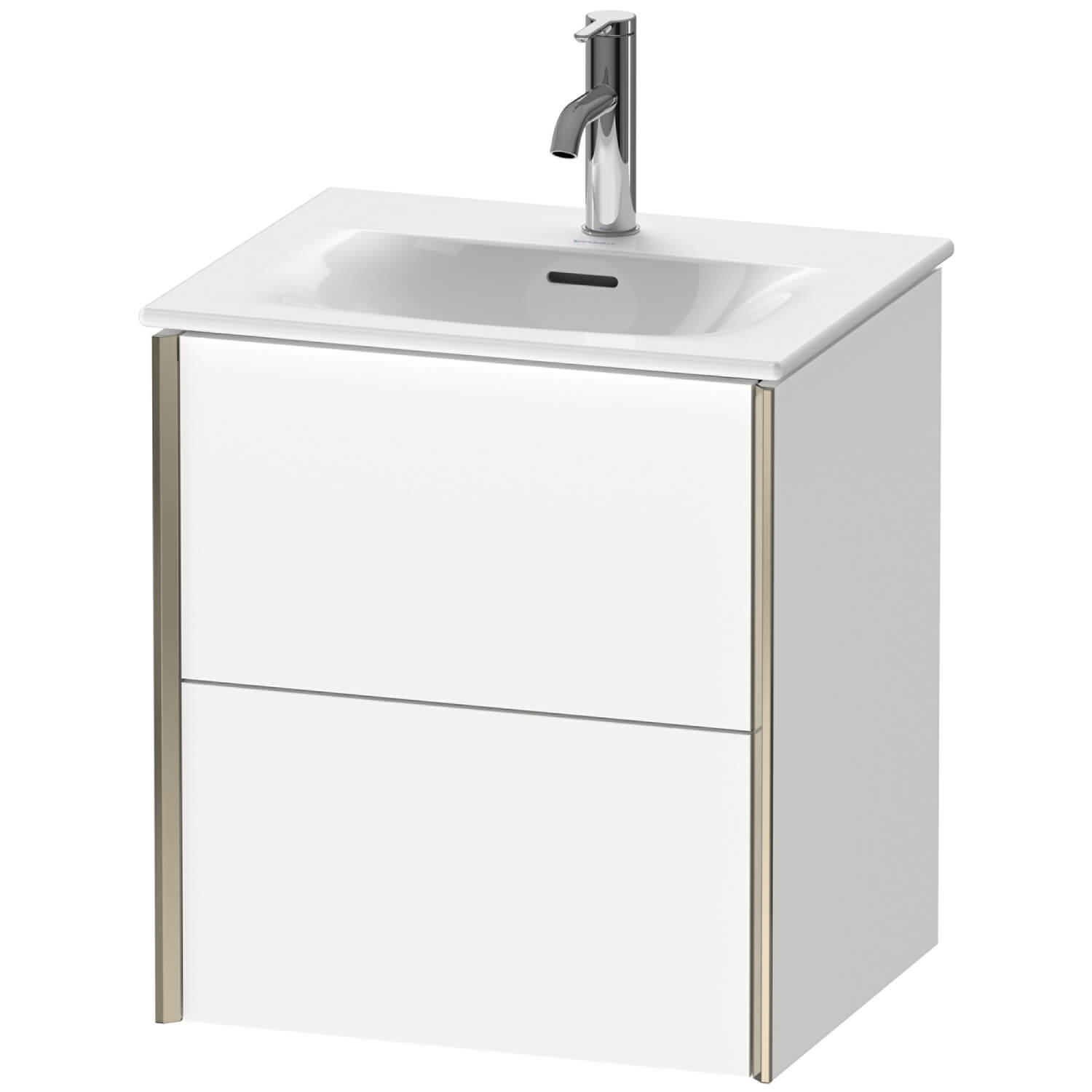 Duravit Xviu 510 x 420mm Double Drawer Wall Mounted Vanity Unit