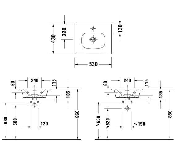Technical drawing QS-V96303 / XV40310B118