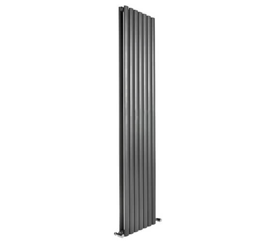Reina Neva 1500mm High Double Panel Vertical Designer Radiator In Anthracite Or White Finish 236mm Wide