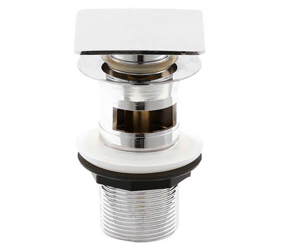 Premier Square Slotted Push Button Basin Waste - EK307