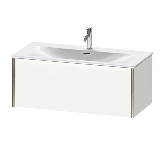 Duravit Xviu 480mm Depth Single Drawer Wall Mounted Vanity Unit