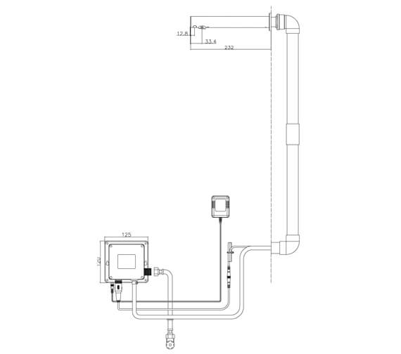 Technical drawing QS-V88134 / SENSOR9/W
