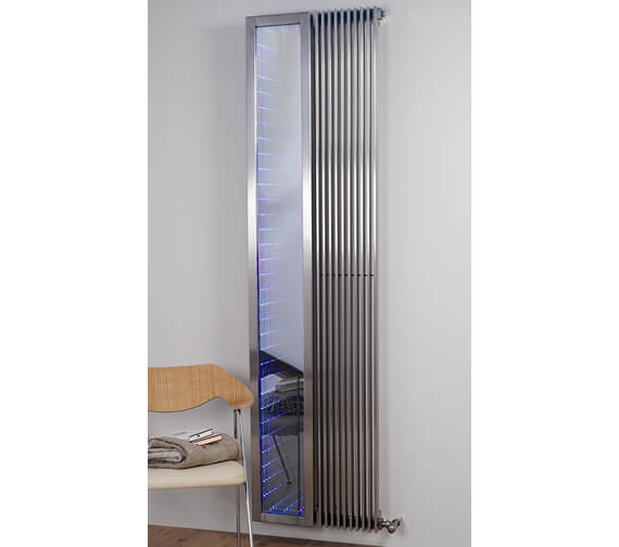 Additional image of Aeon Venetian Wall Mounted Stainless Steel Central Heating Designer Radiator