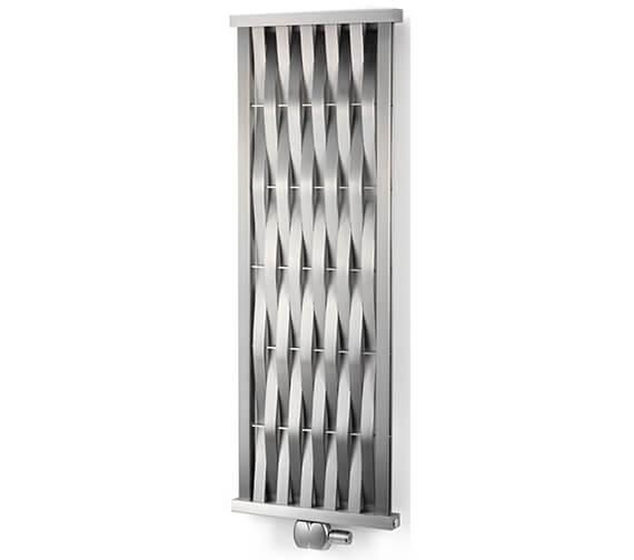 Aeon Wave Vertical Wall Mounted Stainless Steel Designer Radiator