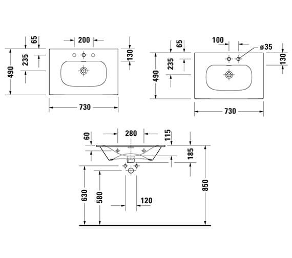 Technical drawing QS-V96306 / XV40320B118