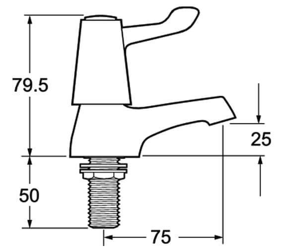 Technical drawing QS-V45265 / DLT101