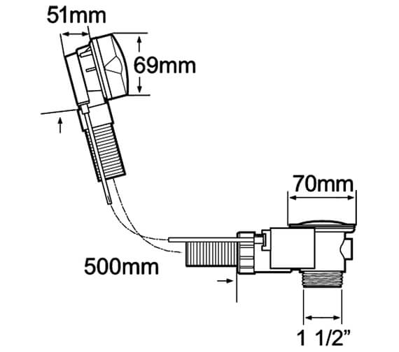 Technical drawing QS-V40805 / PUW200