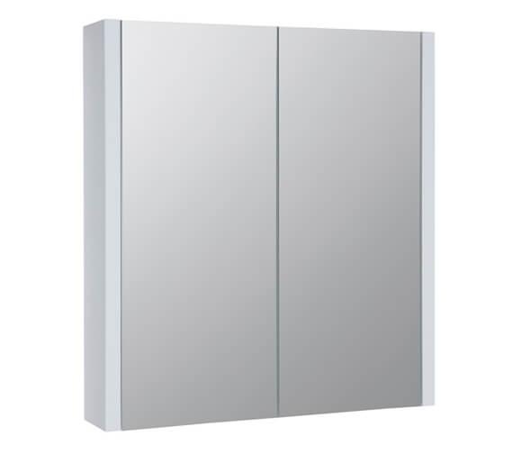 Kartell K-Vit Purity White Double Mirrored Door Bathroom Cabinet