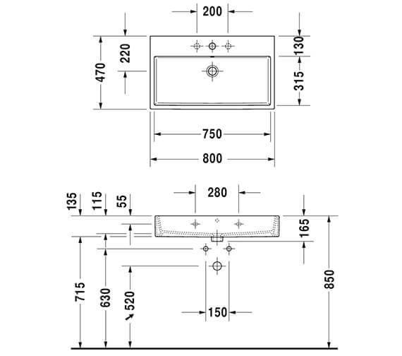 Technical drawing QS-V96307 / XV45330B118