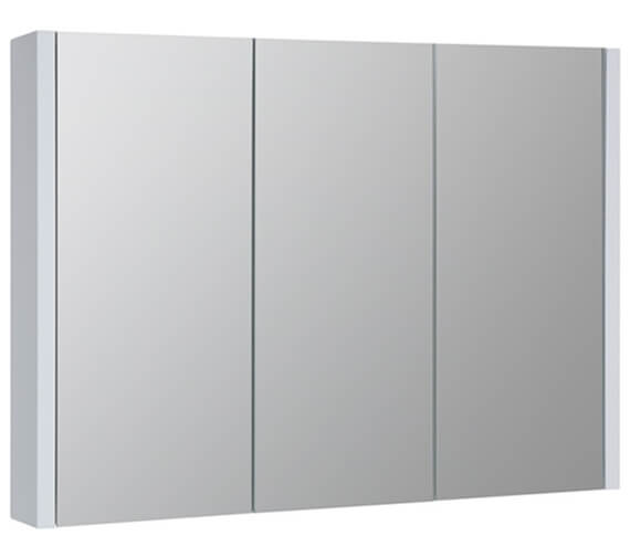 Kartell K-Vit Purity Triple Mirrored Door Bathroom Cabinet 900mm