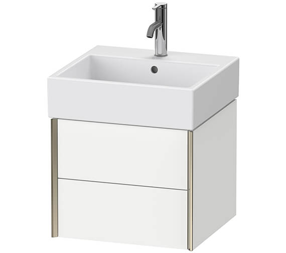 Duravit Xviu 454mm Depth Double Drawer Wall Mounted Vanity Unit
