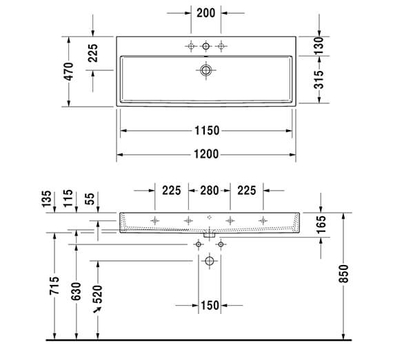 Technical drawing QS-V96308 / XV43330B118