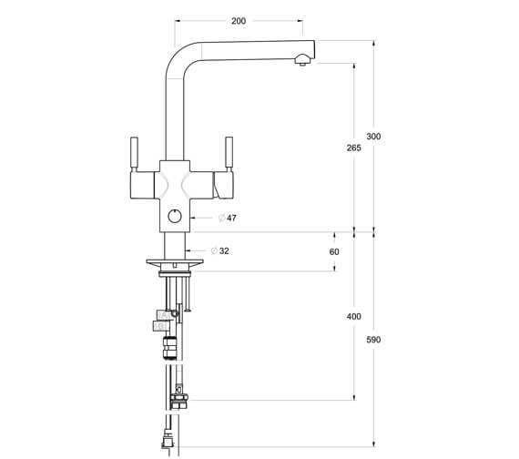 Technical drawing QS-V95970 / 45356