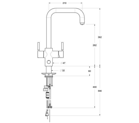 Technical drawing QS-V95972 / 45358