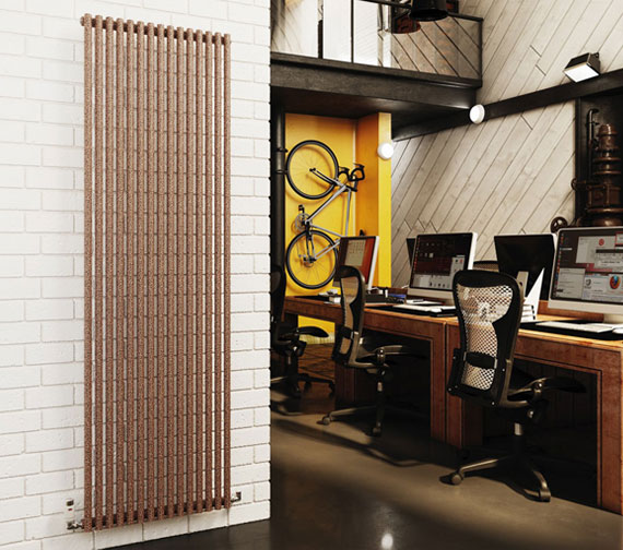 DQ Heating Vulcano Single - Double Vertical Designer Radiator
