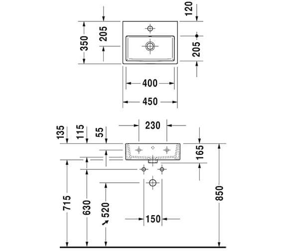 Technical drawing QS-V96310 / XV4531LB118