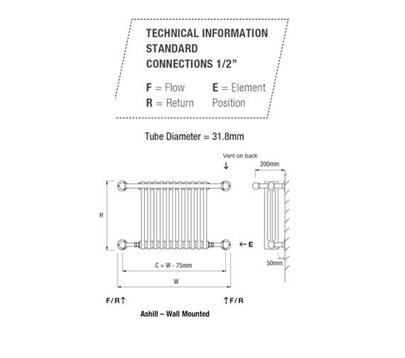 Technical drawing QS-V50168 / ASHILL-1W-CP