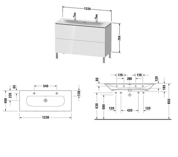 Technical drawing QS-V101260 / LC659501818
